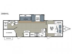 Kodiak Ultimate 288BHSL Floorplan Image
