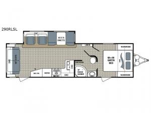 Kodiak Ultimate 290RLSL Floorplan Image