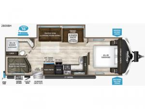 Imagine 2800BH Floorplan Image