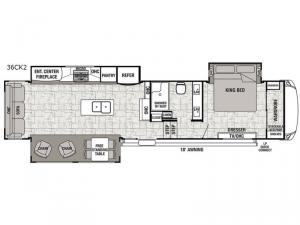 Cedar Creek Hathaway Edition 36CK2 Floorplan Image
