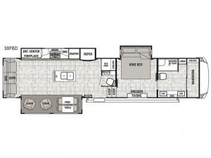 Cedar Creek Hathaway Edition 38FBD Floorplan Image