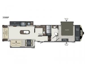 Laredo 358BP Floorplan Image