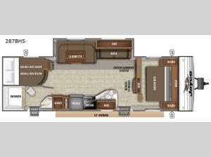 Jay Flight SLX 8 287BHS Floorplan Image
