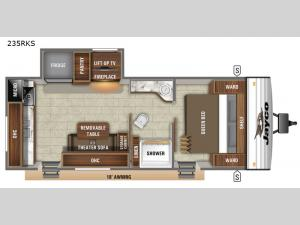 Jay Flight SLX 8 235RKS Floorplan Image