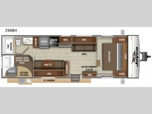 Jay Flight SLX 8 298BH Floorplan Image