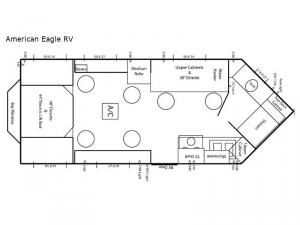 Ice Castle Fish Houses American Eagle RV Floorplan Image