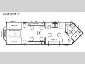 Ice Castle Fish Houses Grand Castle RV Floorplan Image
