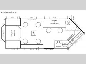 Ice Castle Fish Houses Outlaw Edition Floorplan Image
