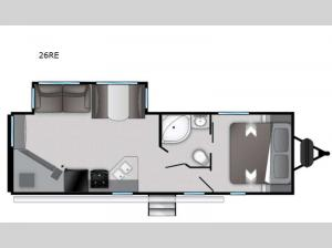 Radiance Ultra Lite 26RE Floorplan Image