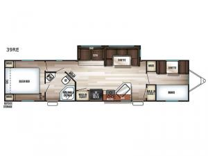 Cherokee 39RE Floorplan Image
