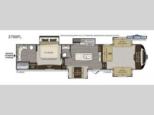 Alpine 3700FL Floorplan Image
