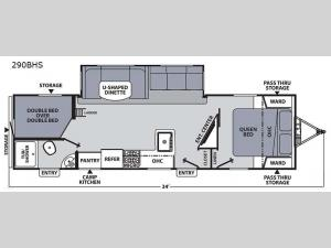 Apex Ultra-Lite 290BHS Floorplan Image