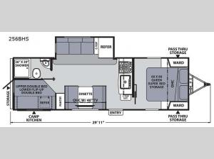 Apex Ultra-Lite 256BHS Floorplan Image