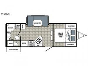 Kodiak Ultra Lite 233RBSL Floorplan Image