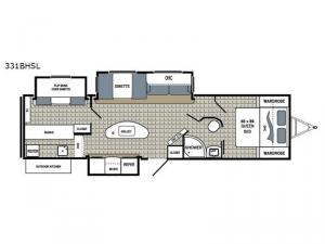Kodiak Ultra Lite 331BHSL Floorplan Image