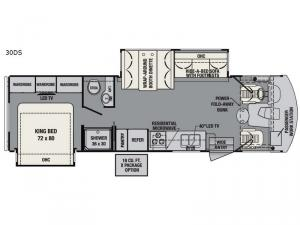 FR3 30DS Floorplan Image
