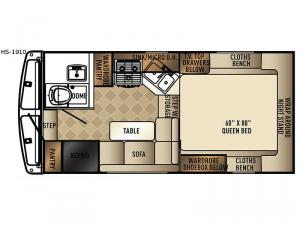 Real-Lite HS-1910 Floorplan Image