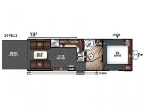Vengeance 26FB13 Floorplan Image