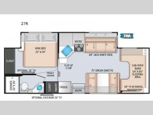 Four Winds 27R Floorplan Image