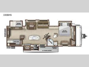 Mesa Ridge MR330BHS Floorplan Image