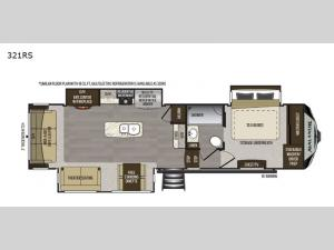 Avalanche 321RS Floorplan Image