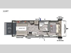 Wildwood FSX 210RT Floorplan Image
