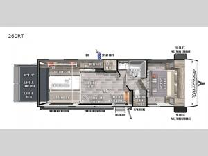Wildwood FSX 260RT Floorplan Image