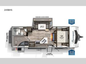 Surveyor Luxury 245BHS Floorplan Image