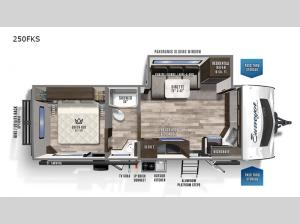 Surveyor Luxury 250FKS Floorplan Image