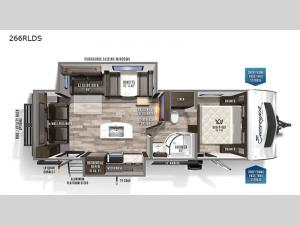 Surveyor Luxury 266RLDS Floorplan Image