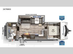 Surveyor Luxury 267RBSS Floorplan Image