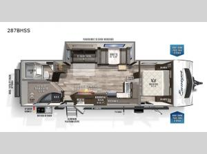 Surveyor Luxury 287BHSS Floorplan Image