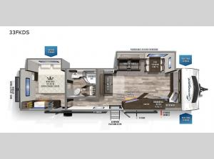 Surveyor Luxury 33KFKDS Floorplan Image