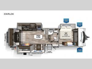 Surveyor Luxury 33KRLOK Floorplan Image