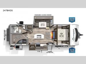 Surveyor Luxury 247BHDS Floorplan Image