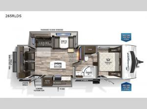 Surveyor Luxury 265RLDS Floorplan Image