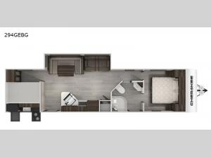Cherokee Black Label 294GEBGBL Floorplan Image