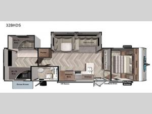 Salem 32BHDS Floorplan Image