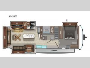 Jay Flight Bungalow 40DLFT Floorplan Image