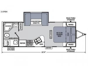 Apex Ultra-Lite 215RBK Floorplan Image