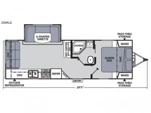 Apex Ultra-Lite 250RLS Floorplan Image