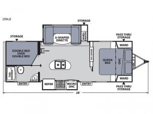 Apex Ultra-Lite 259LE Floorplan Image