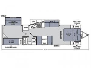 Apex Ultra-Lite 300LE Floorplan Image