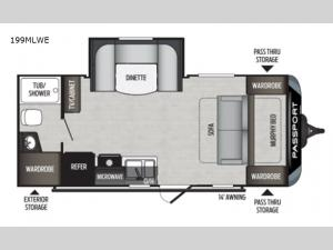 Passport 199MLWE SL Series Floorplan Image