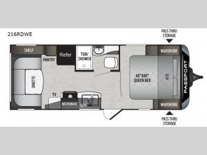 Passport 216RDWE SL Series Floorplan Image