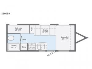 Micro Minnie 1800BH Floorplan Image