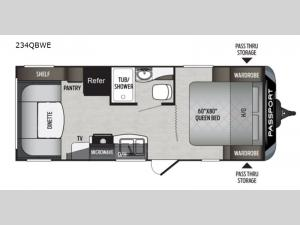 Passport 234QBWE SL Series Floorplan Image
