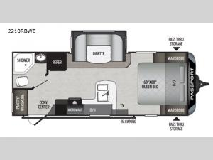 Passport 2210RBWE GT Series Floorplan Image