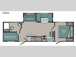 Gold Edition 276BHS Floorplan Image