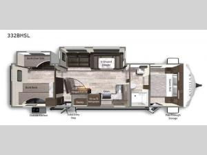 Kodiak Ultra-Lite 332BHSL Floorplan Image